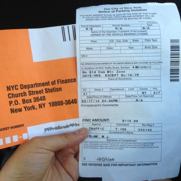 Nyc Traffic Ticket >> Traffic Ticket