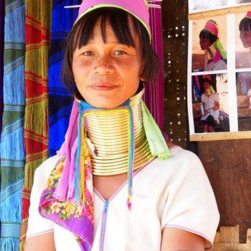 myanmar padaung long necked ladies